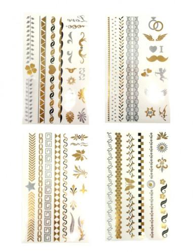 Tattoos in gold und silber