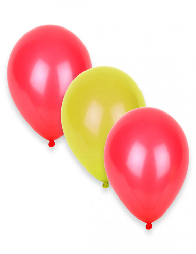 12 Ballons in den Farben Spaniens