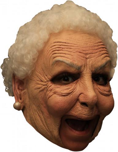 Deluxe Oma Maske - Hand bemalt