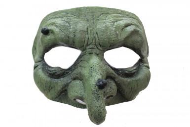 Grüne Hexe Augenmaske für Damen Halloween
