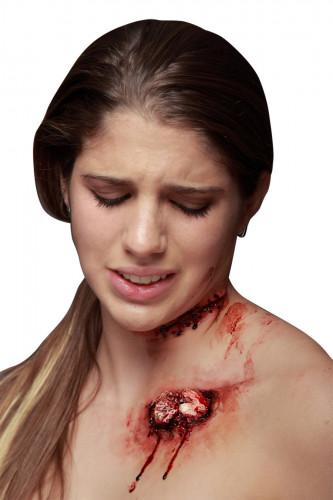 Falsche Wunde mit Knochen