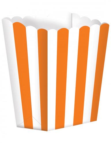 5 Popcorn Becher - orange