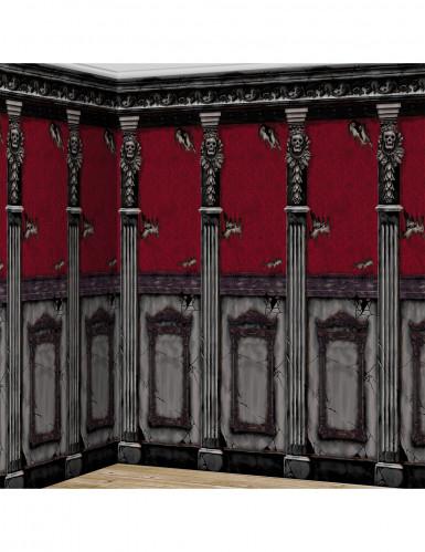 2 Wanddekorationen Gotische Burgen Halloween