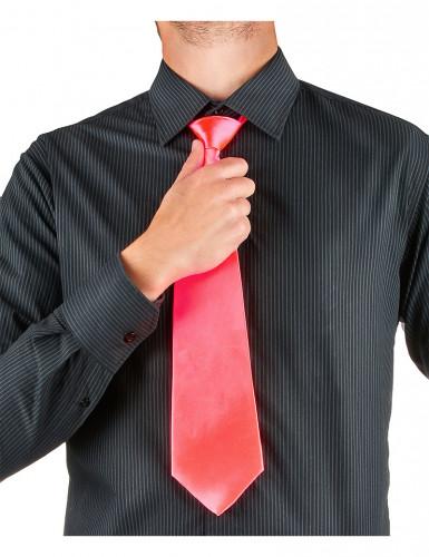 Neonrosa Krawatte-1