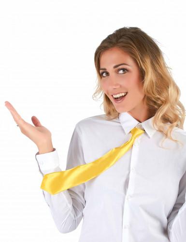 Neongelbe Krawatte-1