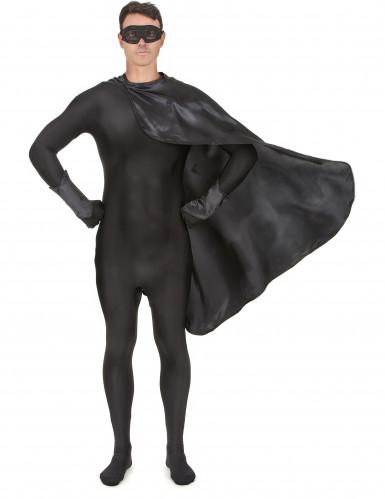 Superheldenkostüm für Frauen und Männer - schwarz