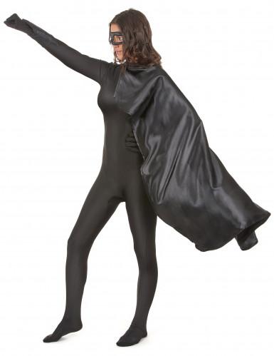 Superheldenkostüm für Frauen und Männer - schwarz-2