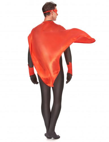 Superheldenkostüm für Frauen und Männer - rot-2