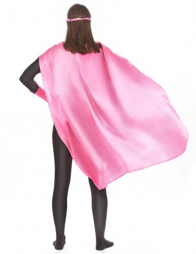 Superheldenkostüm für Frauen und Männer - rosa-2