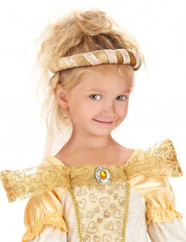 Goldene mittelalterliche Kopfbedeckung für Mädchen-2