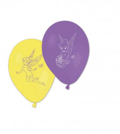 8 bedruckte Ballons Tinkerbell