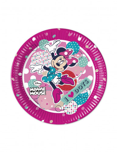 8 Minnie Maus™ Teller 20 cm pink