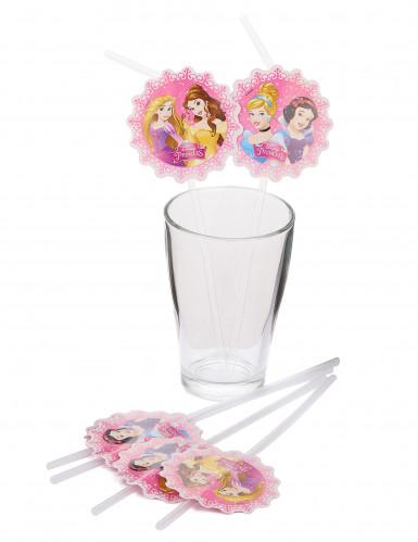 6 Disney Prinzessinnen™ Strohhalme-1