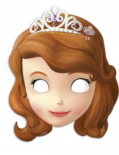 6 Kartonmasken Princess Sofia