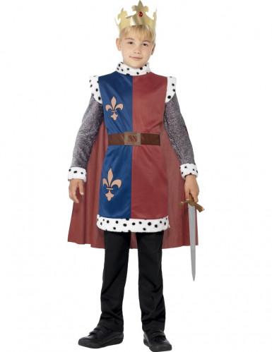 Mittelalterlicher König-Kostüm für Jungen