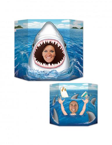 Haifisch Aufsteller aus Pappkarton