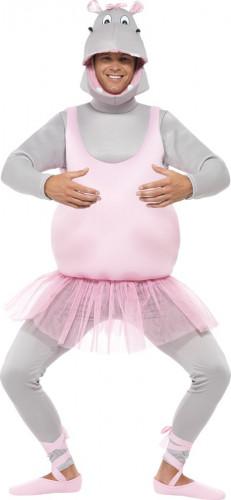 Verkleidung Nilpferd-Ballerina für Erwachsene-1