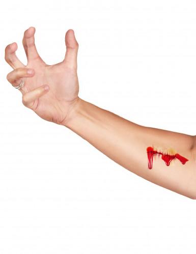 Halloween Set falsche Tätowierung und falsches Blut-2