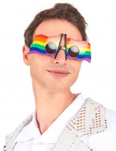 Regenbogen Flagge Brille-1