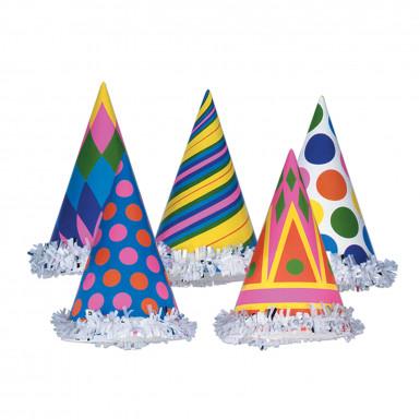 Bunte Party-Hüte aus Pappe