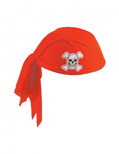 Piraten Kopftuch rot für Erwachsene