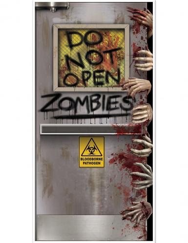 Türdekoration Tür zum Zombie-Labor