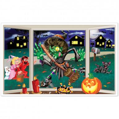 Wand-Deko - Hexe am Fenster - Halloween Einheitsgröße