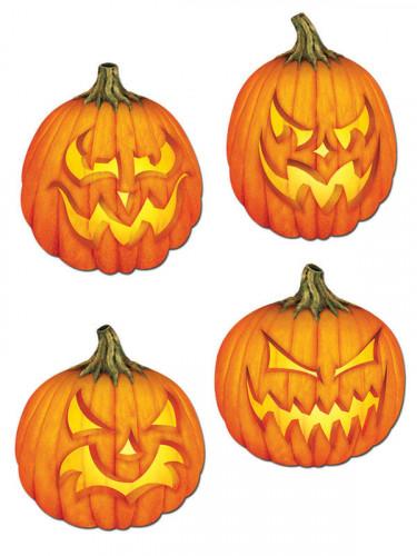4 gruselige Kürbisse Wand-Dekorationen für Halloween-1