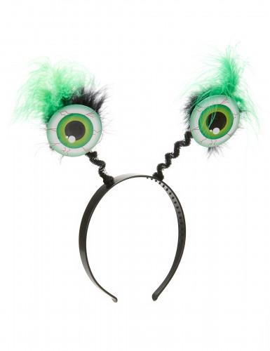 Monsteraugen Haarreif grün