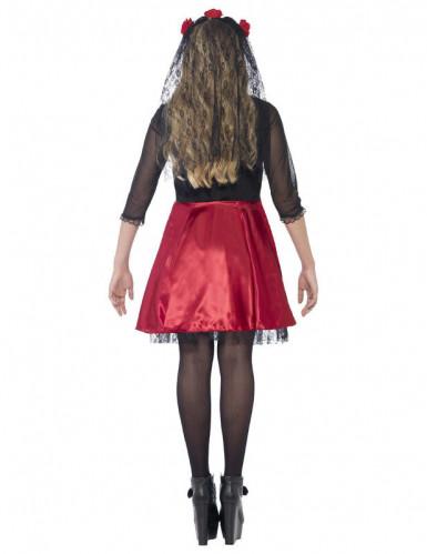 Rotes Skelett Kostüm für junge Erwachsene - Halloween-2