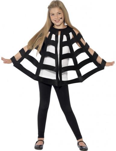 Schwarzer Spinnen Umhang - Halloween