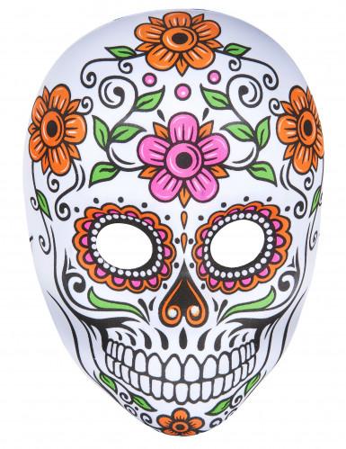 Bunte Skelett-Maske für Erwachsene