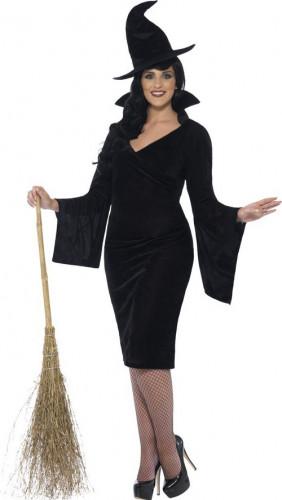 Schwarze Hexe Kostüm Damen