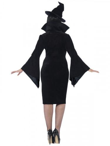 Schwarze Hexe Kostüm Damen-1
