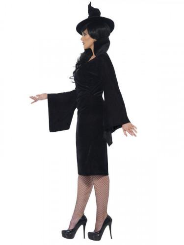 Schwarze Hexe Kostüm Damen-2