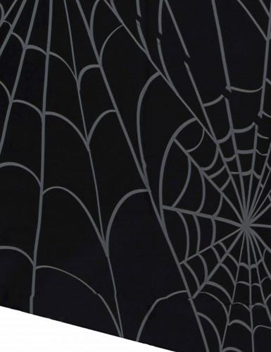 Schwarze Tishdecke mit Spinngeweb aus Plastik-1