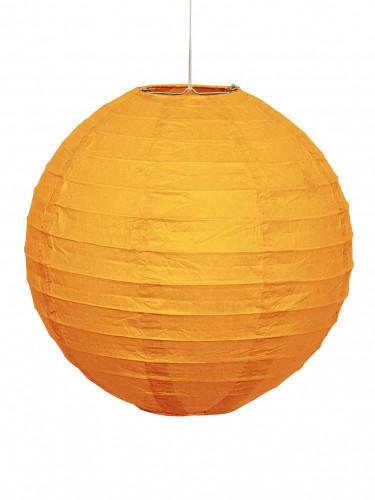 Papierlaterne in Kürbis-Orange