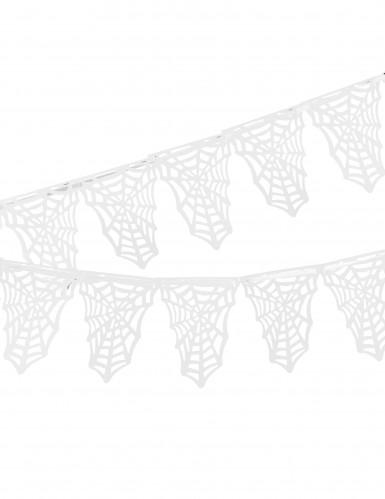 Spinnennetz Fähnchen Girlande - Halloween