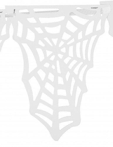 Spinnennetz Fähnchen Girlande - Halloween-1