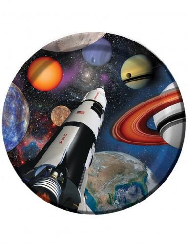 8 Pappteller - Weltall & Planeten