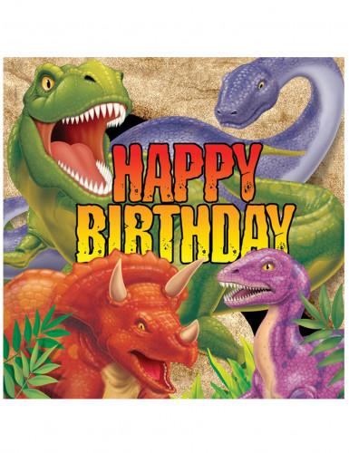 6 Papierservietten Dinosaurier