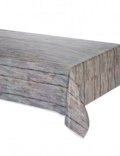 Tischdecke im rustikalen Holz-Look 137 x 274 cm