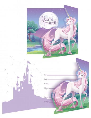 8 Einladungskarten Mein magisches Einhorn™