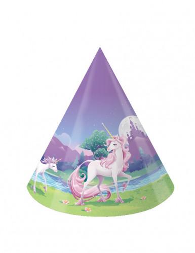 8 Partyhüte Magisches Einhorn