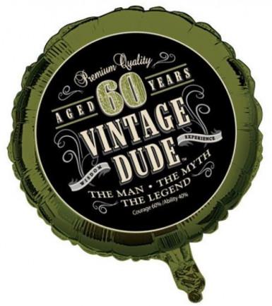 Alu-Luftballon 60. Geburtstag - Vintage