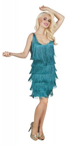 Türkisfarbenes Charleston-Kostüm für Damen