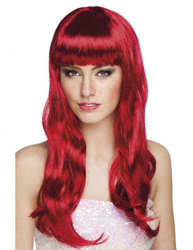 Perücke mit langen roten Haaren für Damen