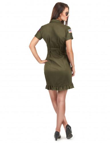 Luxus Top Gun™ Piloten-Kostüm mit Sonnenbrille für Damen-2