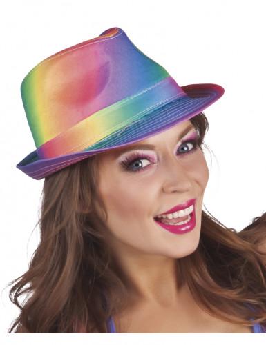 Borsalino Hut in Regenbogenfarben für Erwachsene