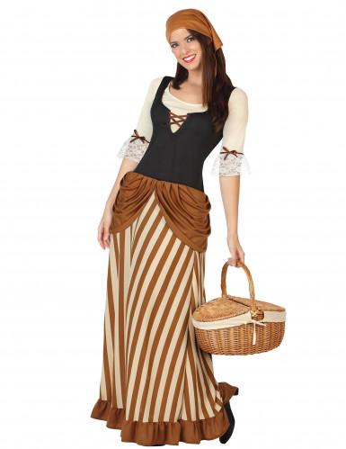Bäuerinnen-Kostüm für Damen